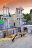 Antyczni amfiteatr sceny wykonawcy Zdjęcia Royalty Free