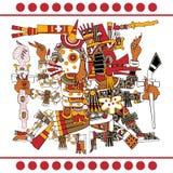Antyczni azteków bóg Zdjęcia Royalty Free