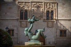 Antyczni budynki w jeden biorą opiekę dziejową Hiszpania obraz royalty free