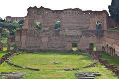 Antyczni budynki w Romańskim palatynu wzgórzu zdjęcie stock
