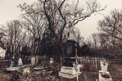 Antyczni cmentarniani nagrobków zabytki anioła mistycyzmu tajemnicy ducha duchy przynoszą śmierć zdjęcie royalty free