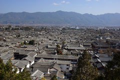 Antyczni dachy w Lijiang starym miasteczku, Yunnan Chiny Fotografia Royalty Free