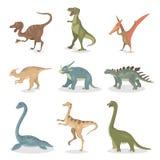 Antyczni dinosaury ustawiający royalty ilustracja
