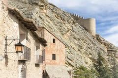 Antyczni domy w Albarracin miasteczku Zdjęcia Royalty Free