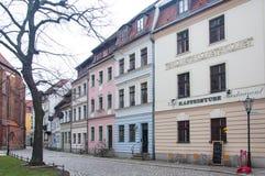 Antyczni domy w Berlin Fotografia Stock