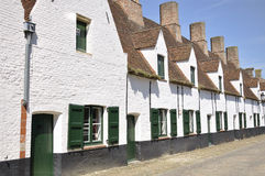 Antyczni domy w Bruges, Belgia Obraz Stock
