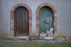 antyczni drzwi dwa Zdjęcia Royalty Free