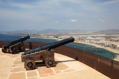 Antyczni działa w Aguilas, Hiszpania Obraz Royalty Free