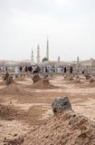 Antyczni grób w Jannat Al Baqi cmentarzu w Medina Obrazy Stock