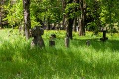 Antyczni kamieni krzyże obrazy stock