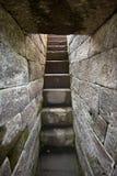 Antyczni kamienni świątynia kroki w Indonezja Zdjęcia Royalty Free