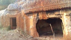 Antyczni kamienni grobowowie w Demre, Turcja Obrazy Stock