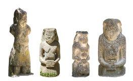 Antyczni kurgan stelae odizolowywający na białym tle fotografia royalty free