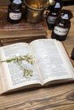 Antyczni naturalni medycyna, ziele i medycyny, obrazy royalty free