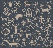 antyczni petroglify ilustracja wektor