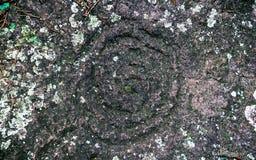 Antyczni petroglify rze?bili Carib plemion b fotografia stock