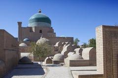Antyczni pogrzeby w starym mieście Khiva Uzbekistan obrazy royalty free