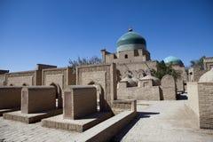 Antyczni pogrzeby w starym mieście Khiva Uzbekistan fotografia royalty free