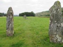 Antyczni pozycja kamienie Nether Largie przy Kilmartin, Szkocja, UK obraz stock