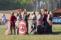 Antyczni Romańscy Legionowi żołnierze obraz stock