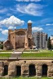 Antyczni rzymscy budynki w Rzym Włochy Fotografia Royalty Free
