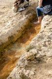 Antyczni skąpania Bagno Vignoni obrazy stock