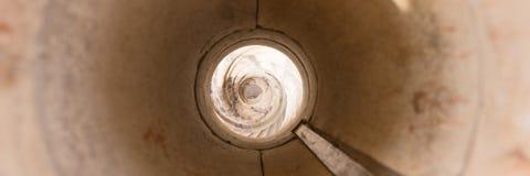 Antyczni spirala kamienia schodki fotografia stock