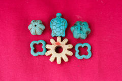Antyczni starzy koraliki inkasowi Fotografia Royalty Free