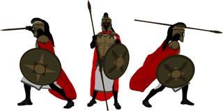 antyczni wojownicy ilustracja wektor