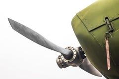 Antyczni zieleni samolotów wojskowych śmigła zdjęcia royalty free
