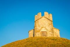 Antyczny średniowieczny kościół St Nicholas blisko Nin Zdjęcia Stock