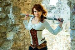 Antyczny żeński rycerz zdjęcia royalty free
