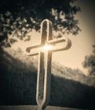 Antyczny żelazo krzyż obrazy royalty free