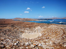 Antyczny amfiteatr na Delos Fotografia Stock