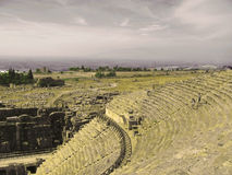 Antyczny amphitheatre w Hierapolis, Pamukkale Obrazy Stock