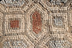 Antyczny antykwarski Grecki mozaika czerep zdjęcia stock
