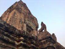 antyczny architektura Powstająca Księżyc Kambodża obrazy royalty free
