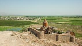 Antyczny armenian monaster na wzgórzu Zdjęcie Royalty Free