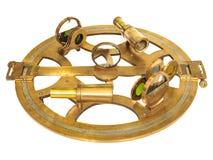 Antyczny astrolabium z obiektywami odizolowywającymi na bielu Fotografia Royalty Free