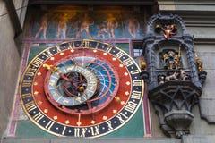 Antyczny Astronomic zegar Zytglogge, Bern zdjęcie stock