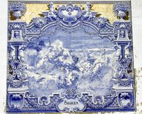 antyczny azulejo Lisbon Obrazy Royalty Free