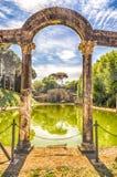 Antyczny basen dzwonił Canopus w willi Adriana (Hadrian Vill zdjęcie royalty free