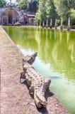 Antyczny basen dzwonił Canopus w willi Adriana, Tivoli obraz royalty free