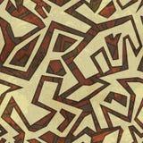 Antyczny bezszwowy wzór z grunge skutkiem ilustracji