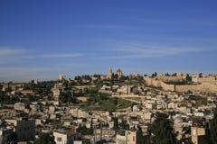 Antyczny bielu kamienia miasto Izrael Fotografia Stock