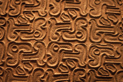 Antyczny brąz textured chińczyka tło Obraz Royalty Free