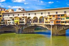 antyczny bridżowy ponte vecchio obraz royalty free