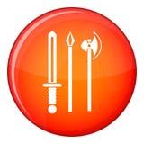 Antyczny broń kordzik, wybór i cioski ikona, Obrazy Stock