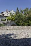 Antyczny brukowa kwadrat w Mostar Zdjęcie Royalty Free