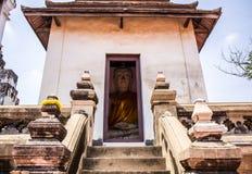 Antyczny Buddha nad 500 rok w Ayutthaya Zdjęcia Royalty Free